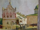 Oleg Palace in the Ryazan Kremlin. 15х22 cm, oil on cardboard. 1996.
