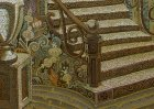 "A fragment of the painting ""Evening.\"" The ornamental motifs have forged stairs and steps."