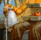 "Fragment of the painting ""Throne of Dali. Portrait of Salvador Dali\"""