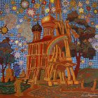 """To Chaine of the Ryazan Kremlin\"", 100х100 cm, canvas, oil, 2015-16. Picture entirely."