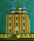Assumption Cathedral of the Ryazan Kremlin, 60x50 cm, oil on canvas. 2014 creation.