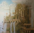 "Wall painting "" Elven city\"" ( as a whole) . Wall number 2 ."