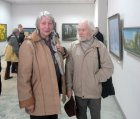 The artist Valentin Chavkin with the spouse – Aleksandra. At opening of the Spring 2015 exhibition devoted to the 70 anniversary of the Victory over fascism. Showroom of the Union of artists of Russia, Ryazan. April 23. Russia.