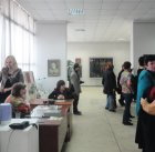 Opening of the Spring 2015 exhibition devoted to the 70 anniversary of the Victory over fascism. Showroom of the Union of artists of Russia, Ryazan. April 23. Russia.