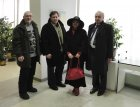From left to right: artists - Alexander Mezheedov, Alexey Akindinov and collectors: Irina and Eduard V. Maybaum.