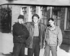 Sergey Preobrazensky (left), Sergey Schepilov (right), Alexey (middle) near the artistic college. 1996. Ryazan.